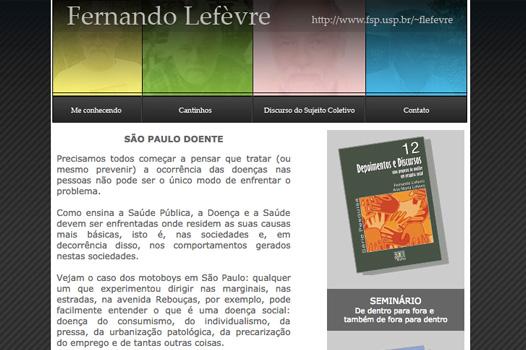 Professor Fernando Lefèvre - FSP USP